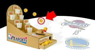 How to Make NBA Basketball Game from Cardboard - Cleveland Cavaliers vs GS Warriors DIY Board Game