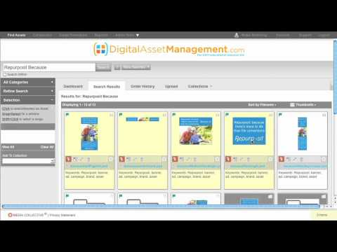 Digital Asset Management System Demo from DAMsystem.com
