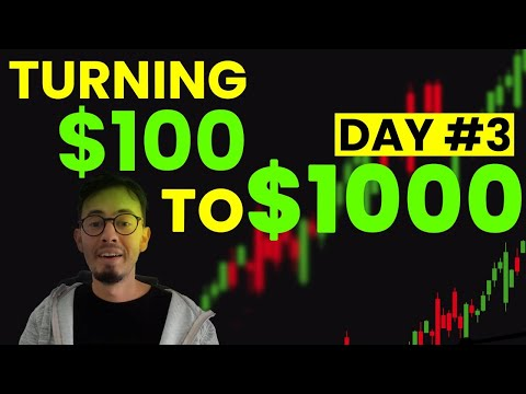 Turning $100 – $1000   Day #3   Growing small Forex Trading Account