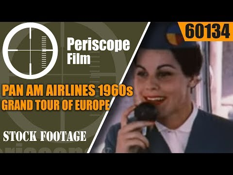PAN AM AIRLINES   1960s GRAND TOUR OF EUROPE  TRAVELOGUE MOVIE 60134