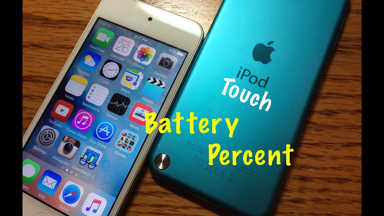 show battery percentage iphone 5 enable ipod battery percent ios 9 no jailbreak 5879