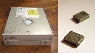 Repeat youtube video Getting Free Neodymium Magnets from CD / DVD drive