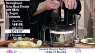 westinghouse turbo hand blender on the shopping channel