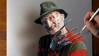 Drawing Freddy Krueger 😱 does it scare you?