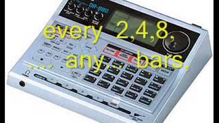 boss dr 880 drum machine patterns 1 5