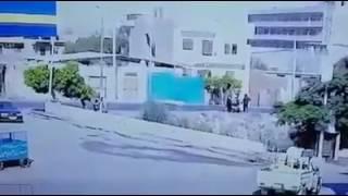 فيديو..كاميرا مراقبة تصور لحظة الهجوم الإرهابي على كمين البدرشين