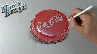 How to draw a 3D Coca-Cola Cap