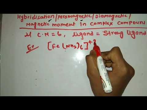 Hybridisation, paramagnetic, Diamagnetic,...