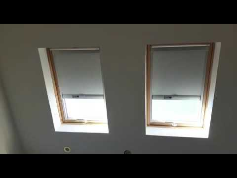 Solar powered velux blinds skylight blackout window for Velux solar powered blinds