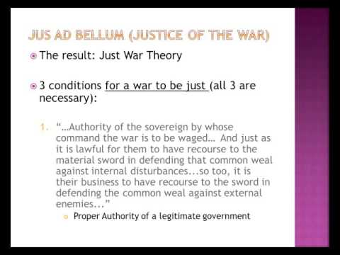 Thomas Aquinas 4 Just War Theory