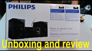 unboxing and review of the philips btm1360 mini hifi