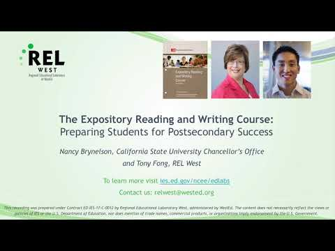 The Expository Reading And Writing Course: Preparing Students For Postsecondary Success
