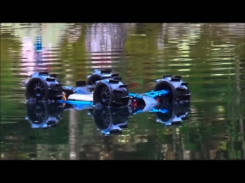 RC Truck Hydroplaning, Wheelies And Crashes!! Traxxas Slash 4x4 Brushless Water Skipping RCFRENZY