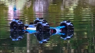 vuclip RC Truck Hydroplaning, Wheelies And Crashes!! Traxxas Slash 4x4 Brushless Water Skipping RCFRENZY