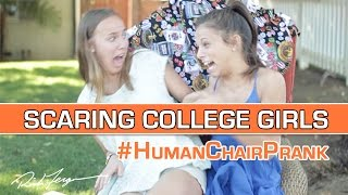 SCARING COLLEGE GIRLS! (Epic Chair Scare Prank!)