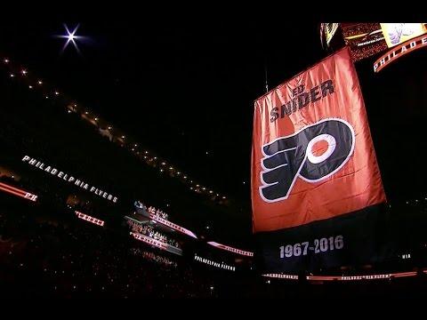 Philadelphia Flyers 2016 Home Opener - Opening Ceremonies (50th Season)