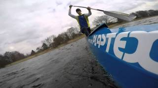 Canoe training in Olsztyn with Plastex Boat and GoPro