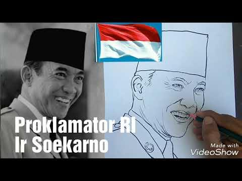 Menggambar Wajah Proklamator Ri Ir Soekarno Warnai Dong Hasilnya Youtube