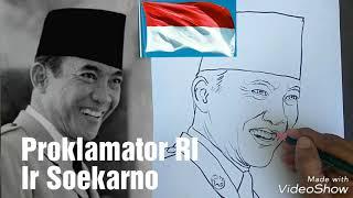 Menggambar Wajah Proklamator Ri Ir Soekarno Warnai Dong Hasilnya By Sanggar Lukis Pelangi Easy Drawing