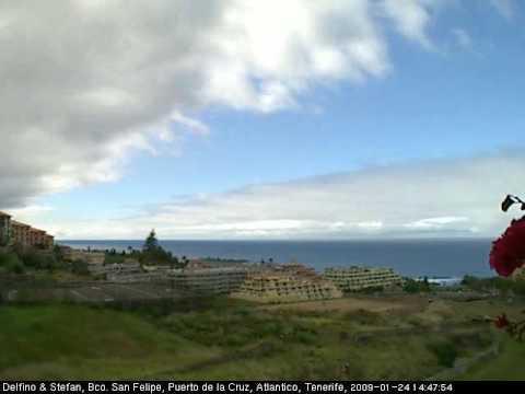 Atlantico 2009 01 24 webcam puerto de la cruz tenerife youtube - Puerto de la cruz webcam ...