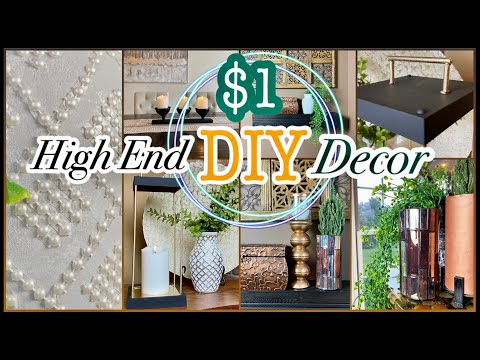 HIGH END Dollar Tree DIY Decor that is Cheap & Easy!!