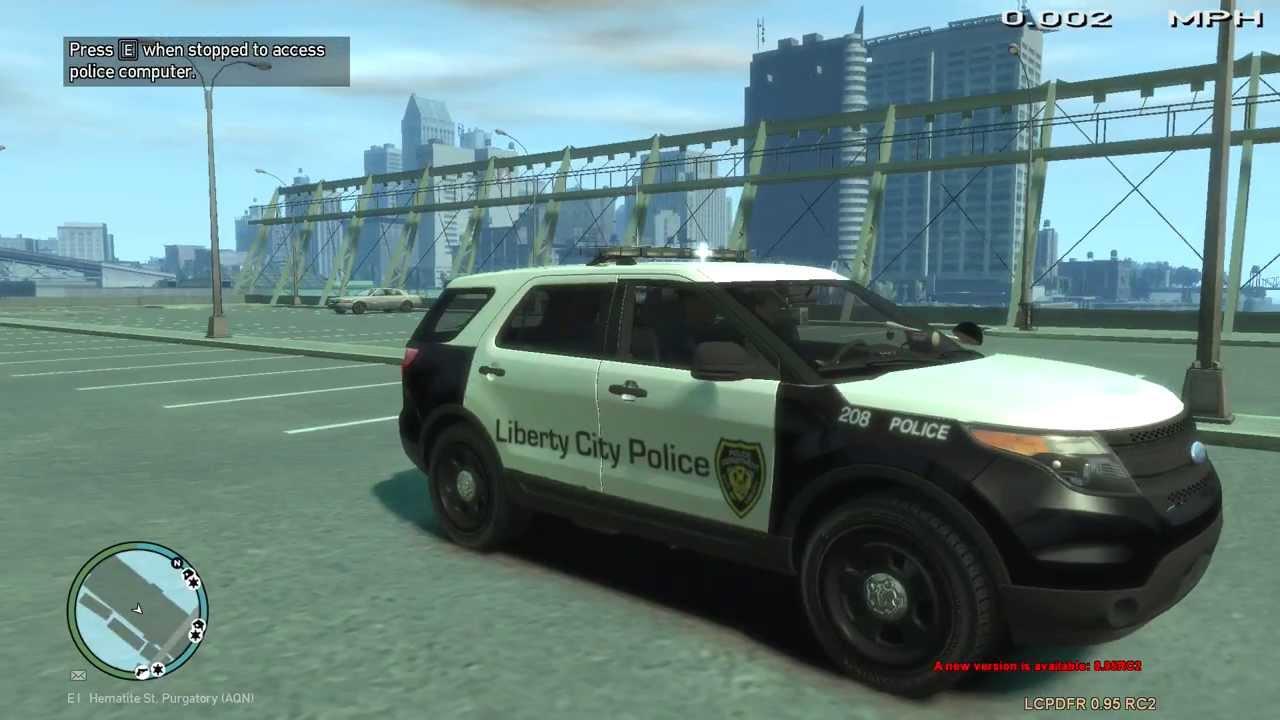 Black Ford Explorer >> Black and White Police Ford Explorer - GTA IV - YouTube