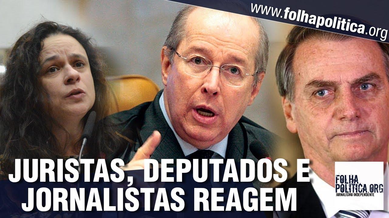 Juristas, deputados e jornalistas se revoltam após Celso de Mello, do STF, afrontar Bolsonaro
