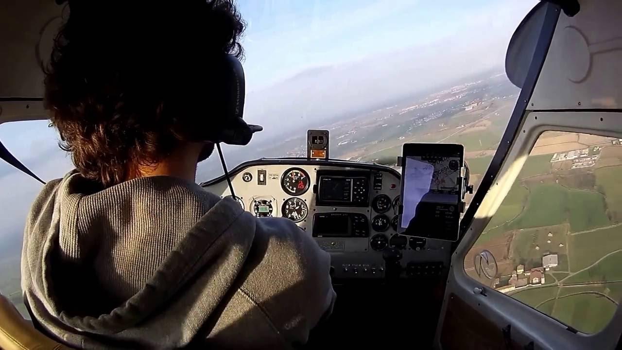 Tecnam P92 echo super - cockpit view
