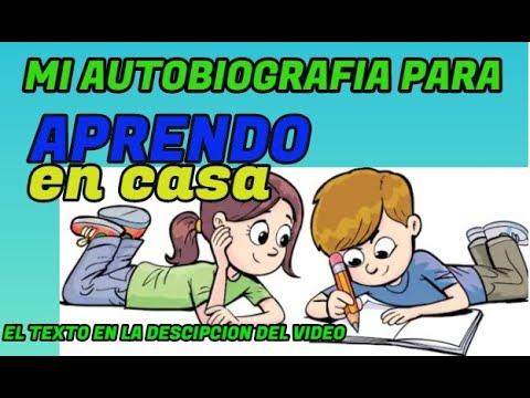 Como Hacer Una Autobiografia Para Niños Escribimos Y Difundimos Nuestra Biografia Youtube