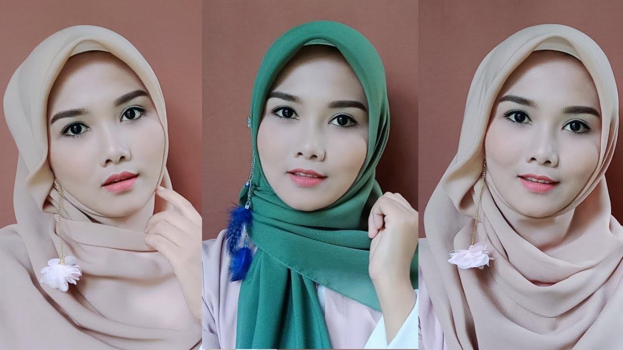Tutorial Hijab Segi Empat Segi Empat Pesta Simple Memakai Anting Fara Cahya P Youtube