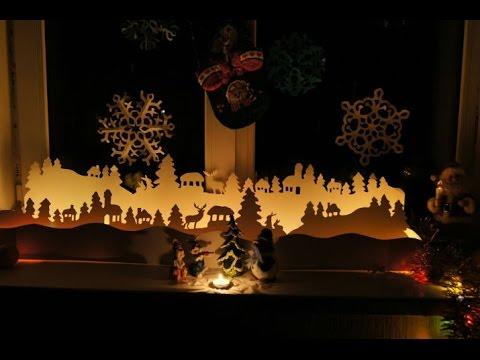 30  восхитительных  идей новогоднего украшения окон