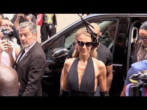 Skinny Celine Dion attending the 2019 Schiaparelli Haute Couture fashion show in Paris