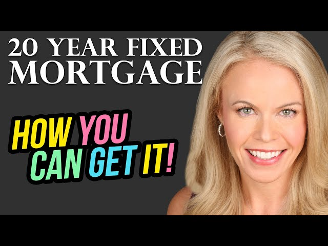 Yes! There is a 20 year fixed mortgage and it is dreamy!