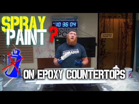 Spray Paint on Epoxy Countertops? Why we Don't use it !