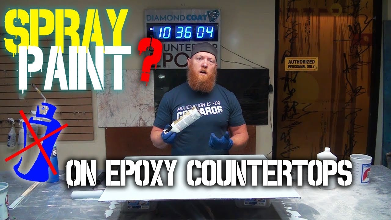 Download Spray Paint on Epoxy Countertops? Why we DON'T use it! - Countertop Epoxy - Epoxy Do's and Don'ts