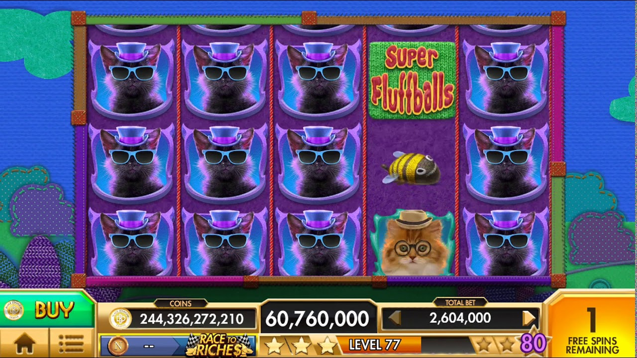 SUPER FLUFFBALLS Video Slot Casino Game with a FREE SPIN BONUS
