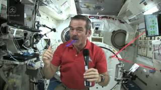 Astronaut Chris Hadfield Brushes his Teeth in Space   CSA ISS Science Full HD Video