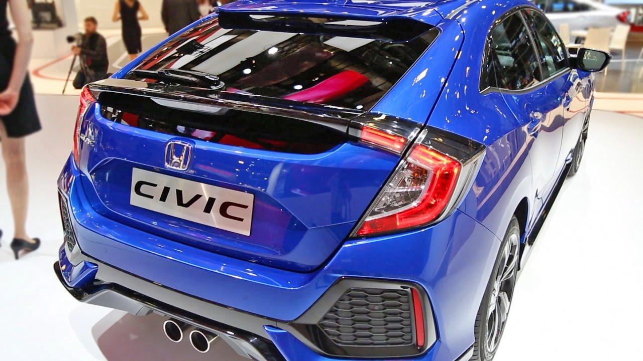 New 2017 Honda Civic Hatchback Interior And Exterior Walkaround Youtube