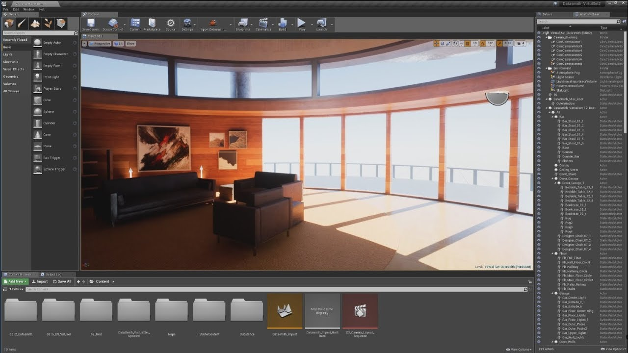 Templates and Assets in Unreal Studio | Feature Highlight  | Unreal Studio - With Unreal Studio, getting up to speed with Unreal Engine has never been easier. Unreal Studio subscribers gain access to 100 Substance Source Materials.
