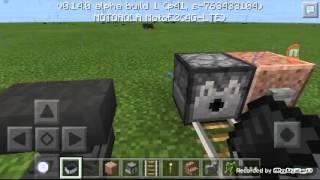 Minecraftpe pé minecart movido sem trilho
