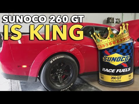 Race gas for Demon MS 109 to Sunoco GT 260 Plus | SRT