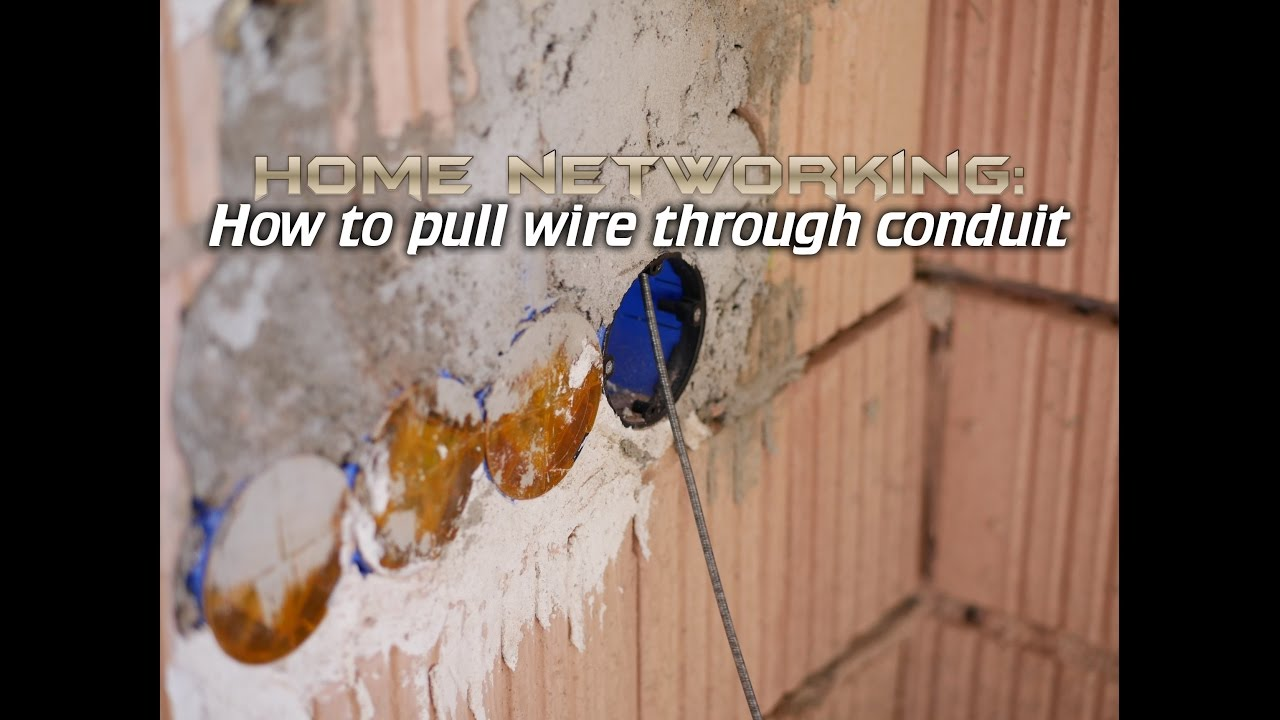 Home Networking How To Run Cable Through Walls Youtube Electrical Fishing Wire Also Running