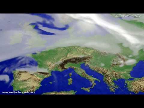 Cloud forecast Europe 2017-06-20