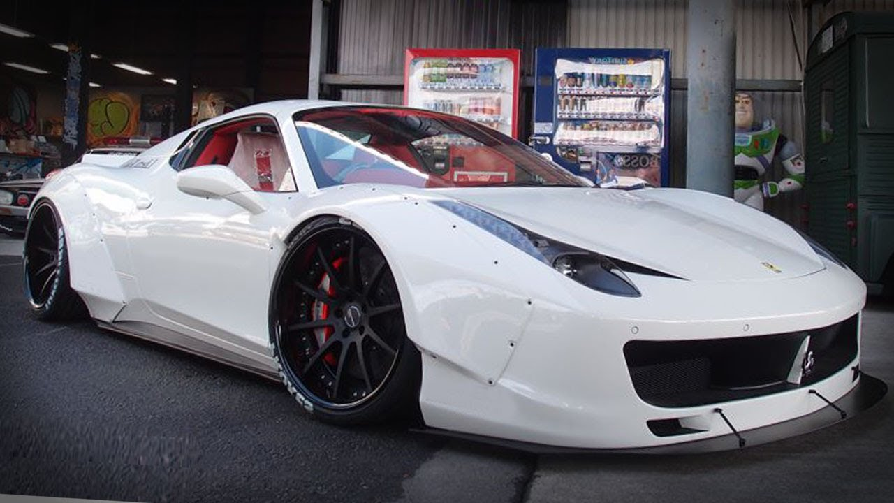 Liberty Walk S Widebody Ferrari 458 Spider Youtube