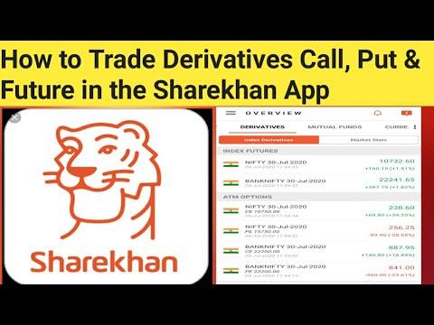 kaip prekiauti opcionais sharekhan