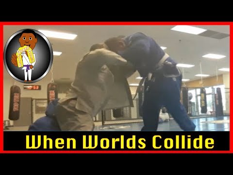 BJJ Roll No. 92 - When worlds Collide - Bakari w/Paolo at Smiley Academy