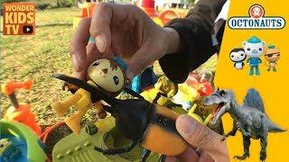 조심해! 옥토넛! 바다탐험대 옥토넛 거대 공룡과 거대 곤충의 습격을 받다. (toy story) 공룡과 풍뎅이의 습격