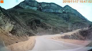 Дорога на водопад Лаза Кусар. Ləzə şəlaləsinə aparan yol. Road to Laza waterfall