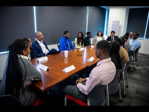 President Obama Surprises Obama Youth Jobs Corps Students