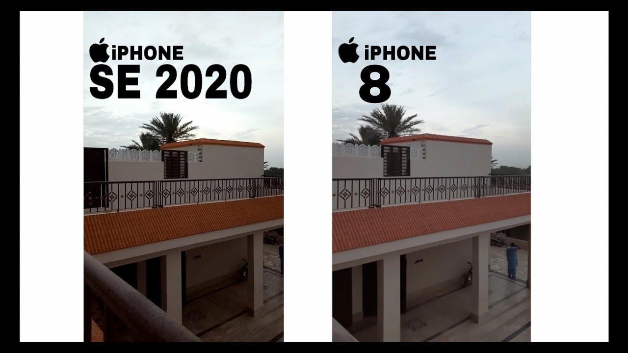 Ví dụ minh họa về camera giữa iPhone SE và iPhone 8